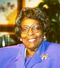 Rep. Cardiss Collins (D-Chicago) was president of the Illinois State Society of Washington, DC from 1995 to 1996. She first came to the U.S. House after the tragic loss of her husband Rep. George Collins in a plane crash in Chicago in December 1972. Mrs. Collins was born Cardiss Hortense Robertson in St. Louis, Mo., September 24, 1931; graduated from Detroit High School of Commerce, Detroit, Mich.; attended Northwestern University; secretary, accountant, and auditor for Illinois department of revenue; committeewoman of Chicago's twenty-fourth ward; elected as a Democrat to the Ninety-third Congress, by special election to fill the vacancy caused by the death of her husband, United States Representative George W. Collins, and reelected to the eleven succeeding Congresses (June 5, 1973-January 3, 1997).
